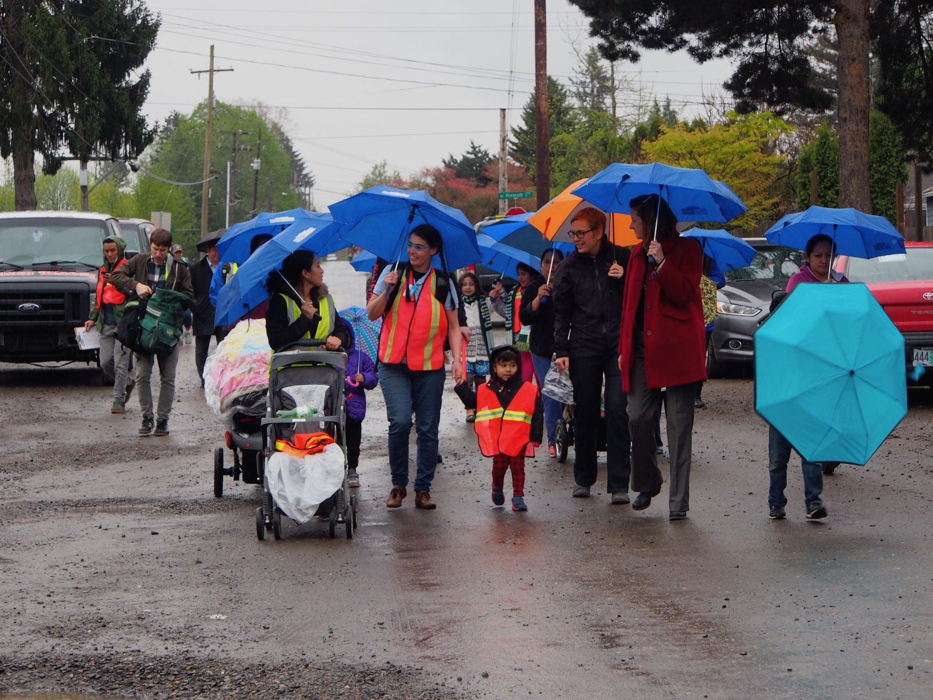 Portland Public Schools Safe Routes to School walk at Scott Elementary