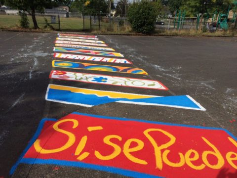 Painted Crosswalk at Cesar Chavez Elementary