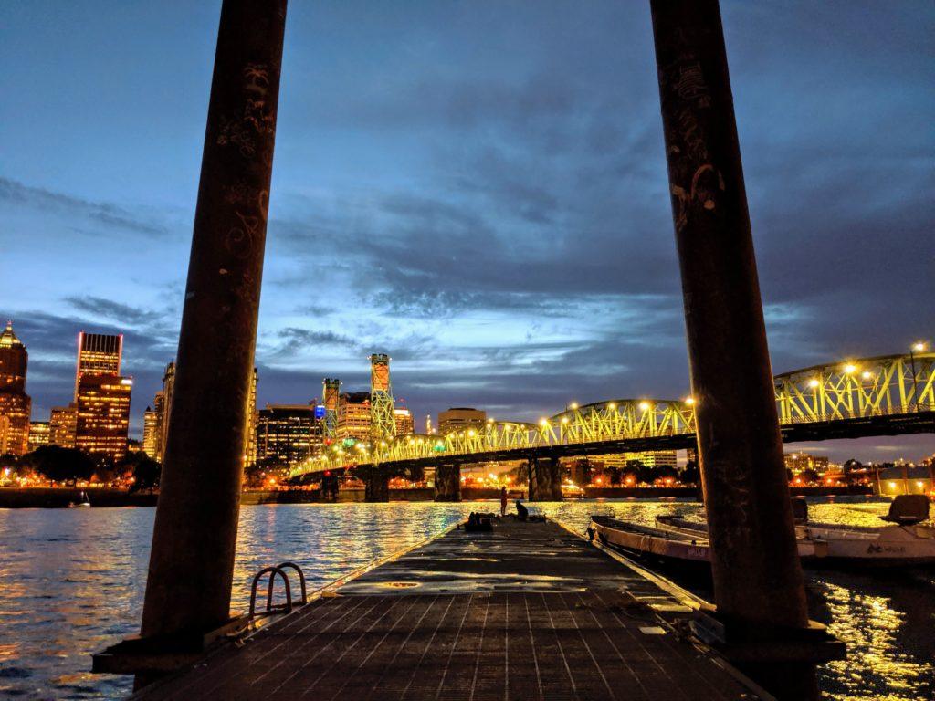 Nightshot of Downtown Portland