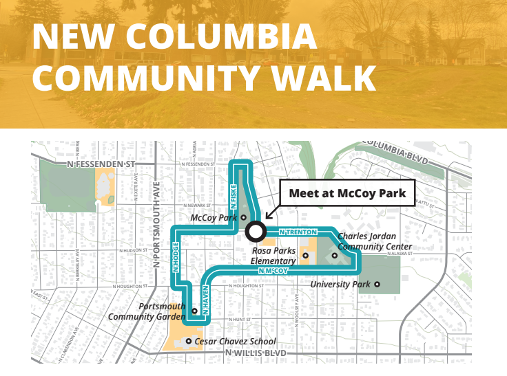Image of route of New Columbia Community Walk